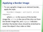 applying a border image