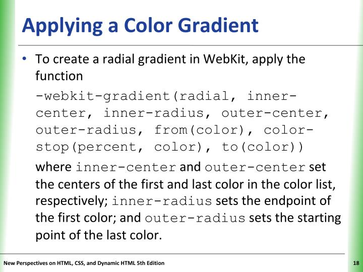 Applying a Color Gradient