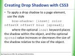creating drop shadows with css31