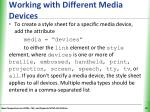 working with different media devices