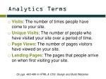 analytics terms