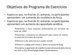 objetivos do programa de exerc cios