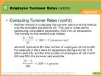 employee turnover rates cont d
