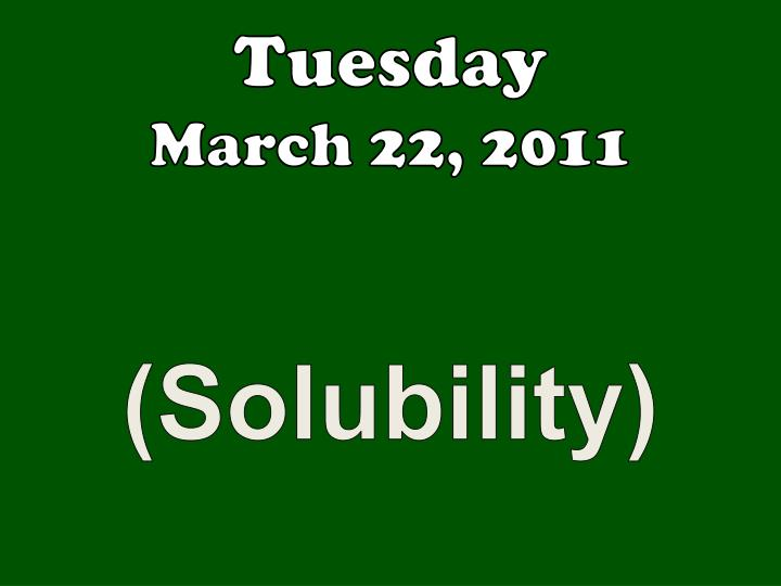 tuesday march 22 2011 n.
