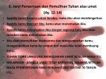 6 janji penyertaan dan pemulihan tuhan atas umat ay 12 14