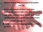 muncul nubuat nabi hananya di yerusale m yer 28