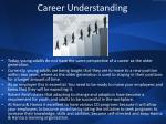 career understanding