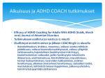 aikuisuus ja adhd coach tutkimukset