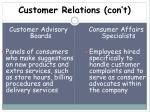 customer relations con t