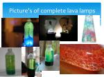 picture s of complete lava lamps