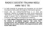 radio e societa italiana negli anni 60 e 70