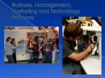 business management marketing and technology pathway