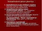 sosiaalihistoria jakson j sennys