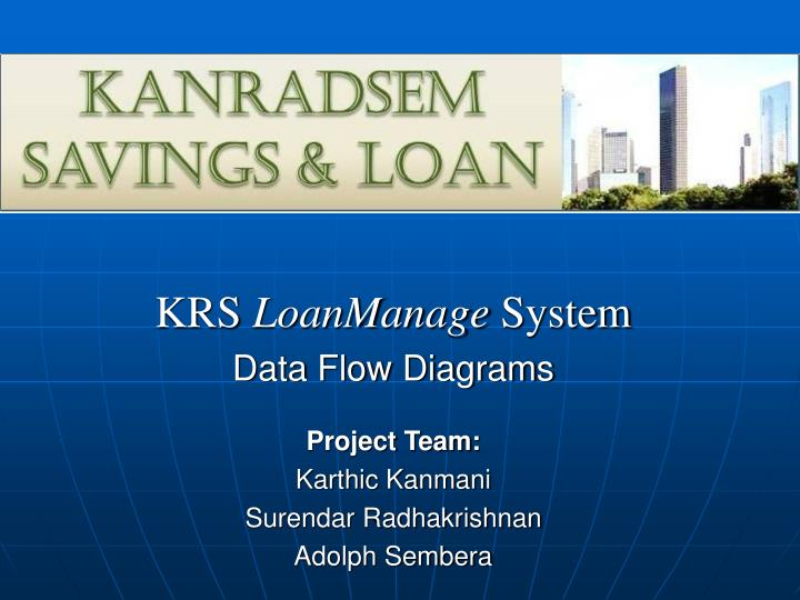 krs loanmanage system data flow diagrams n.