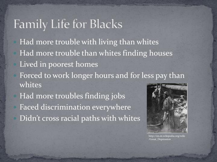 Family Life for Blacks