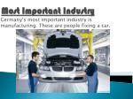 most important industry