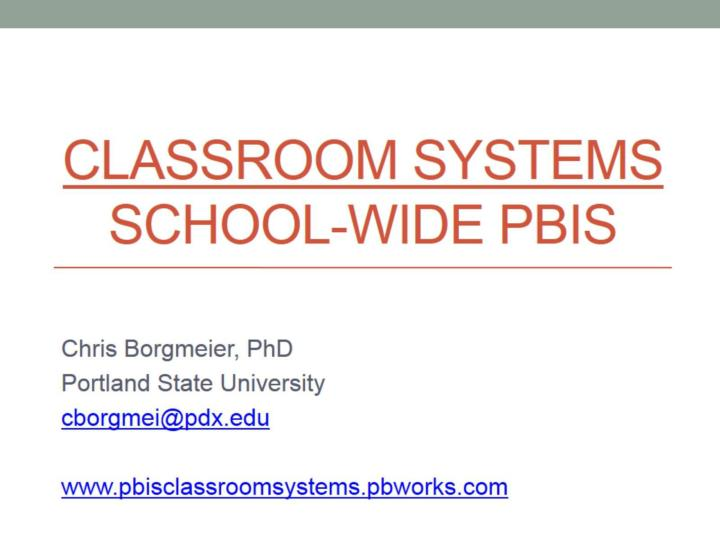 classroom systems school wide pbis n.