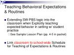 teaching behavioral expectations routines