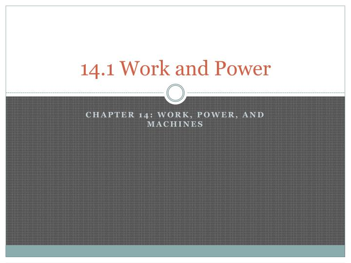 14 1 work and power n.