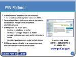 pin federal