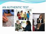 an authentic test