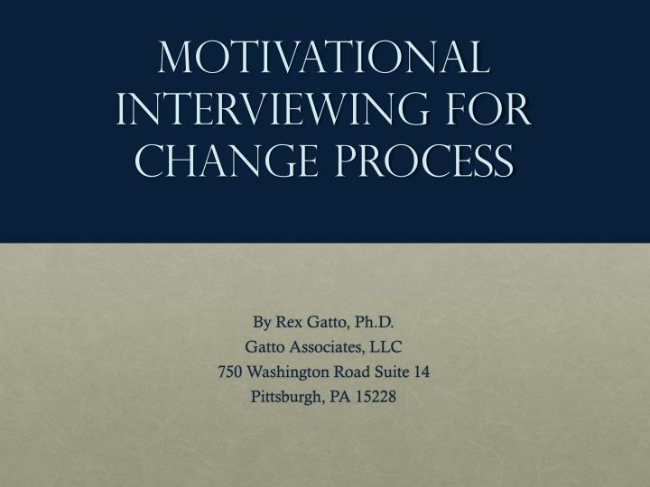 motivational interviewing for change process n.