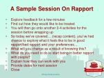 a sample session on rapport1