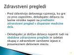 zdravstveni pregledi