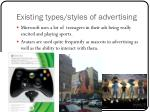 existing types styles of advertising