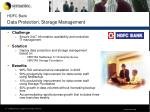 hdfc bank data protection storage management