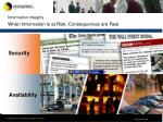 information integrity when information is at risk consequences are real