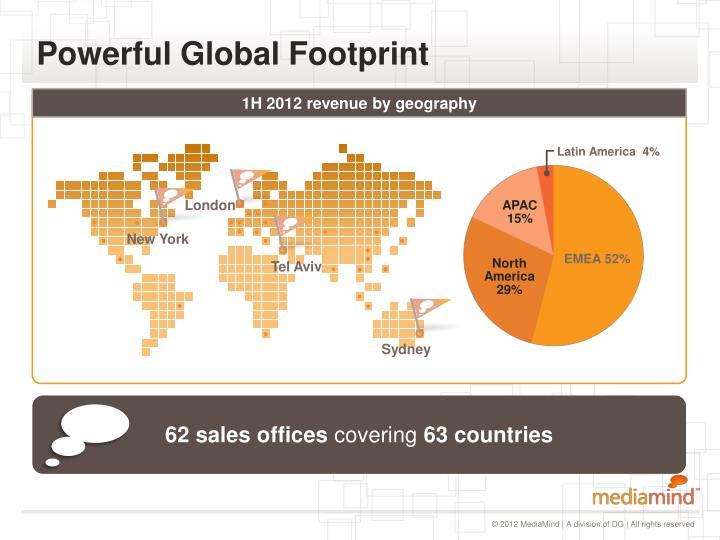 Powerful global footprint