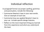 individual reflection