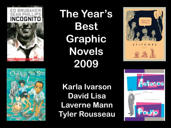 the year s best graphic novels 2009 n.