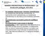 nameni vrednotenja in priznavanja po strokovnih podlagah acs 2011