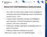 rezultati partnerskega sodelovanja