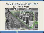 chemical disposal 1947 1962
