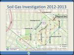 soil gas investigation 2012 2013
