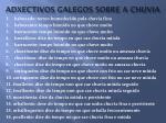 adxectivos galegos sobre a chuvia