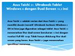 asus taichi 31 ultrabook tablet windows 8 dengan dual screen 13 3 inci