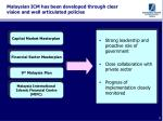 malaysian icm has been developed through clear vision and well articulated policies