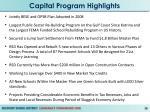 capital program highlights