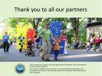 thank you to all our partners