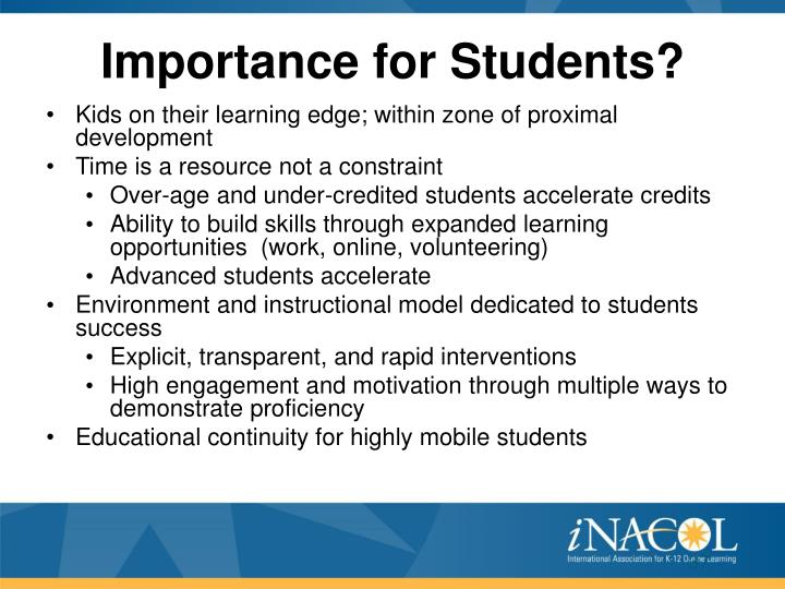 Importance for Students?
