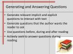 generating and answering questions