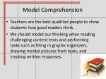model comprehension