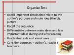 organize text