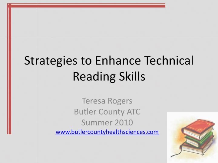 strategies to enhance technical reading skills n.