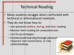 technical reading