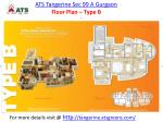 ats tangerine sec 99 a gurgaon floor plan type b